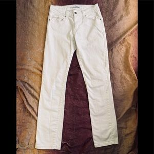 New Levi Strauss White Mid Rise Skinny Jeans